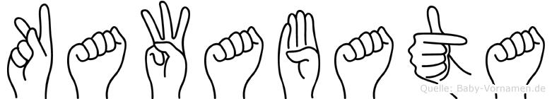Kawabata in Fingersprache für Gehörlose