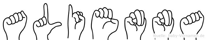 Alienna in Fingersprache für Gehörlose