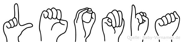 Leomia im Fingeralphabet der Deutschen Gebärdensprache