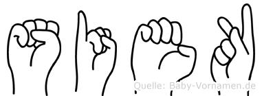 Siek in Fingersprache für Gehörlose