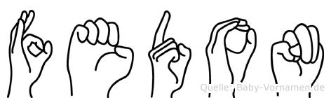 Fedon in Fingersprache für Gehörlose