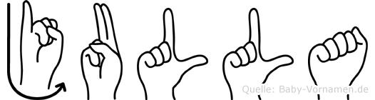 Julla in Fingersprache für Gehörlose