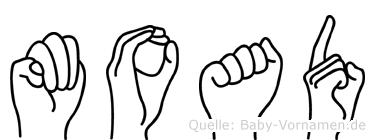 Moad in Fingersprache für Gehörlose