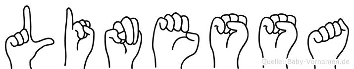 Linessa in Fingersprache für Gehörlose