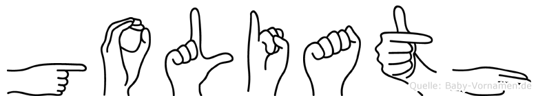 Goliath im Fingeralphabet der Deutschen Gebärdensprache