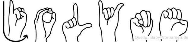 Jolyne in Fingersprache für Gehörlose