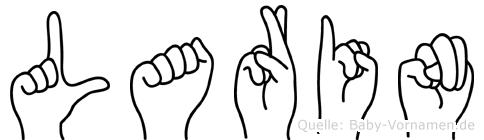 Larin im Fingeralphabet der Deutschen Gebärdensprache