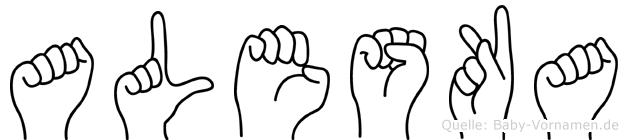 Aleska im Fingeralphabet der Deutschen Gebärdensprache