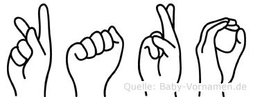 Karo im Fingeralphabet der Deutschen Gebärdensprache