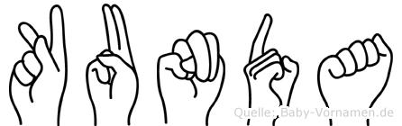 Kunda in Fingersprache für Gehörlose