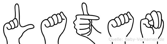 Latan im Fingeralphabet der Deutschen Gebärdensprache
