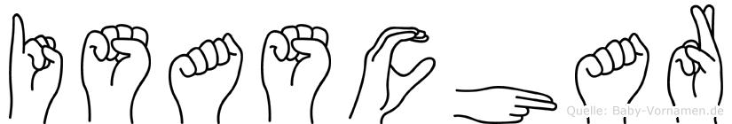 Isaschar im Fingeralphabet der Deutschen Gebärdensprache