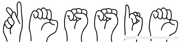 Kessie in Fingersprache für Gehörlose
