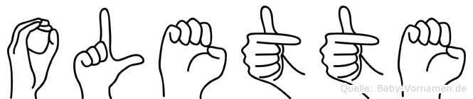 Olette in Fingersprache für Gehörlose