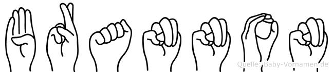 Brannon in Fingersprache für Gehörlose