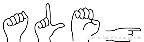 Aleg in Fingersprache für Gehörlose