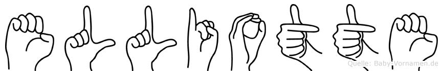 Elliotte im Fingeralphabet der Deutschen Gebärdensprache