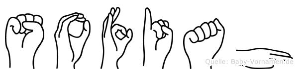 Sofiah in Fingersprache für Gehörlose
