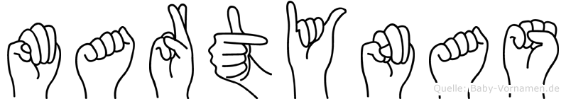 Martynas im Fingeralphabet der Deutschen Gebärdensprache