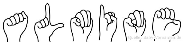 Almine im Fingeralphabet der Deutschen Gebärdensprache