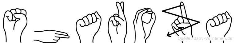 Sharoza in Fingersprache für Gehörlose