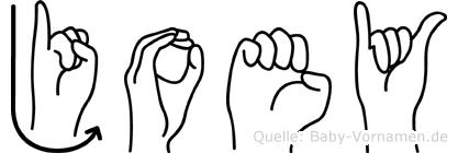 Joey in Fingersprache für Gehörlose
