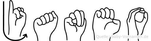 Janeo in Fingersprache für Gehörlose