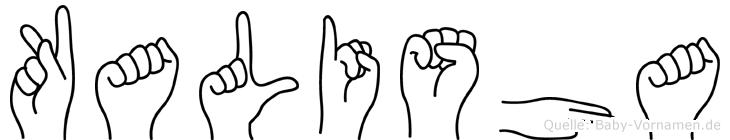 Kalisha in Fingersprache für Gehörlose