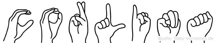 Corlina in Fingersprache für Gehörlose