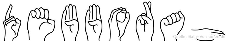 Debborah in Fingersprache für Gehörlose
