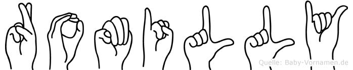 Romilly im Fingeralphabet der Deutschen Gebärdensprache