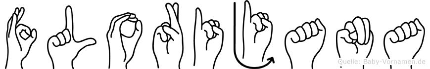Florijana im Fingeralphabet der Deutschen Gebärdensprache