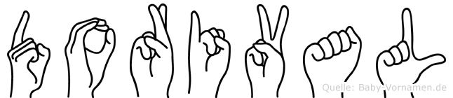 Dorival im Fingeralphabet der Deutschen Gebärdensprache