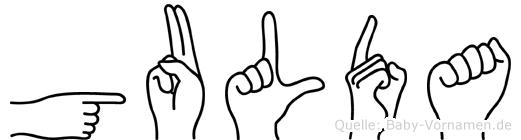 Gulda in Fingersprache für Gehörlose