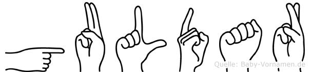 Guldar in Fingersprache für Gehörlose
