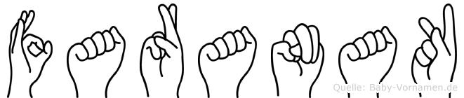 Faranak in Fingersprache für Gehörlose