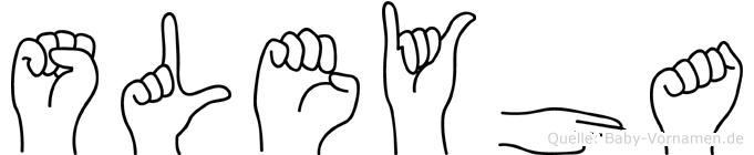 Süleyha im Fingeralphabet der Deutschen Gebärdensprache