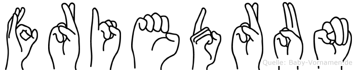 Friedrun im Fingeralphabet der Deutschen Gebärdensprache