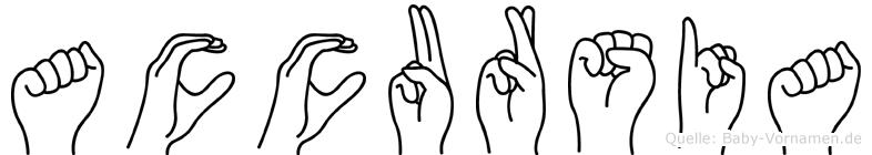 Accursia in Fingersprache für Gehörlose