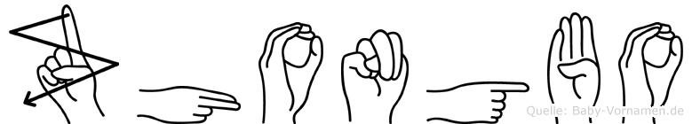 Zhongbo in Fingersprache für Gehörlose
