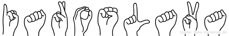 Iaroslava im Fingeralphabet der Deutschen Gebärdensprache