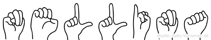 Nellina im Fingeralphabet der Deutschen Gebärdensprache