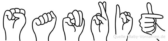 Sanrit im Fingeralphabet der Deutschen Gebärdensprache