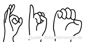 Fie in Fingersprache für Gehörlose