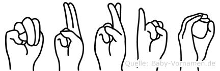 Nurio in Fingersprache für Gehörlose