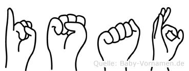 Isaf in Fingersprache für Gehörlose