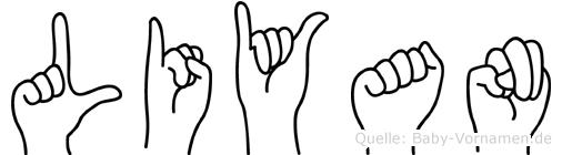 Liyan im Fingeralphabet der Deutschen Gebärdensprache