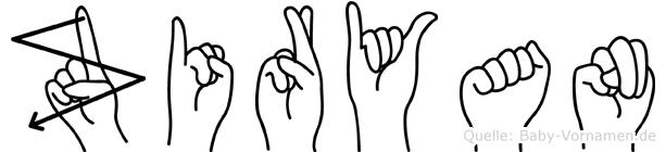 Ziryan in Fingersprache für Gehörlose