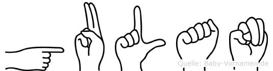 Gulan in Fingersprache für Gehörlose