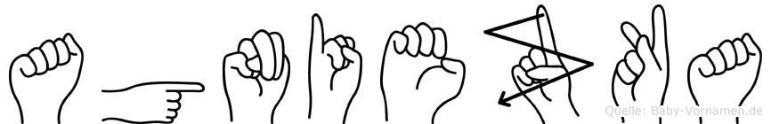 Agniezka im Fingeralphabet der Deutschen Gebärdensprache